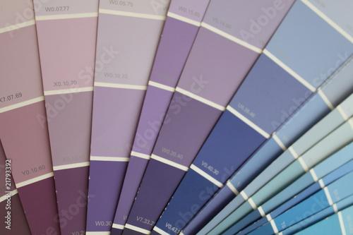Nuancier ton bleu photo libre de droits sur la banque d - Nuancier de violet ...