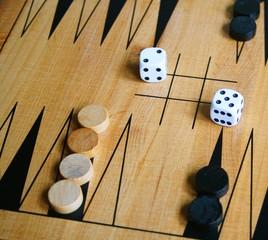 Backgammon and Dice