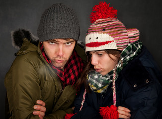 Bundled Up Couple