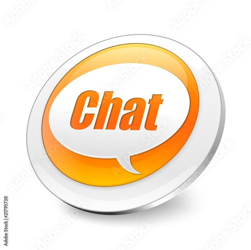 Orange 3d chat icon stock photo and royalty free images - Chat orange ...