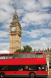 Big Ben and London Red Double Decker Bus