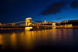 Budapest at night, Danube, Bridge, Hungary poster