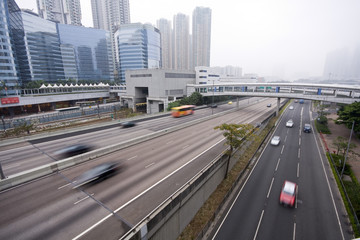 highway with car in Hong Kong