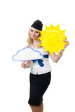 Sunny weather forecast poster