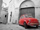 Fotoroleta Czerwony klasyczny samochód