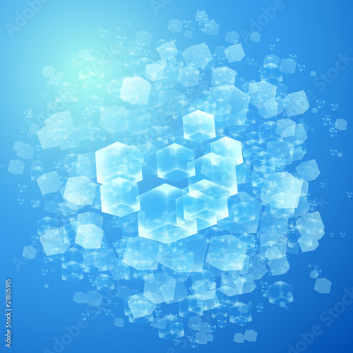 vector illustration of transparent cubes