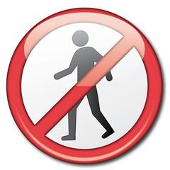 Señal prohibido pasar