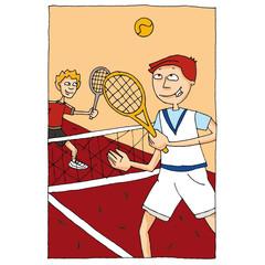 Jouer au tennis 2