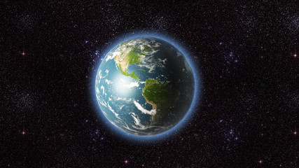 Planet earth USA view (mega-res)