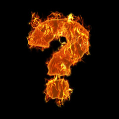 Burning Question Mark