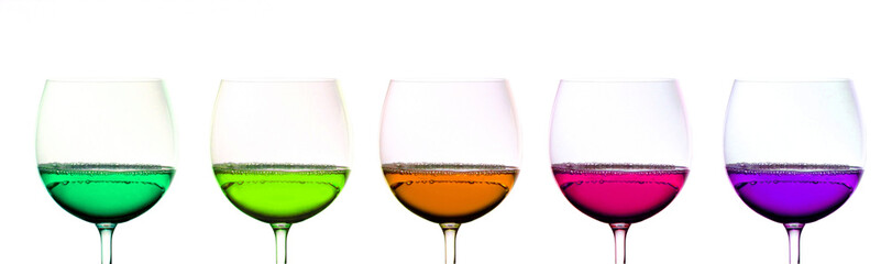 Colored Wine Glasses