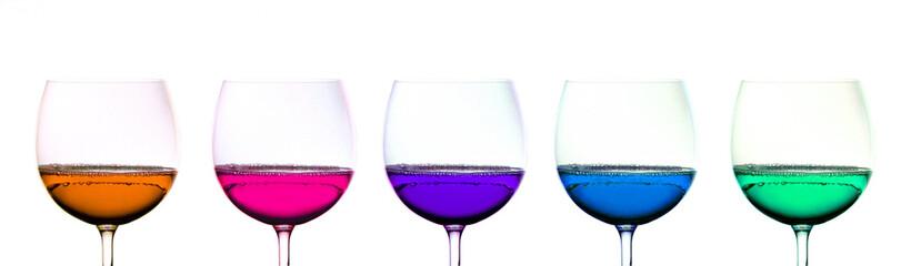 Colored Wine Glasses