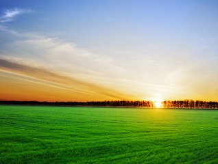 Sun setting over a beautiful landscape