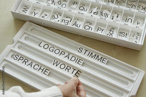 Leinwanddruck Bild Wortspiel