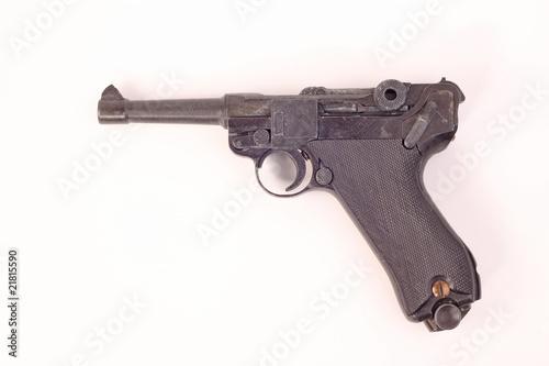 Leinwanddruck Bild Pistole P08