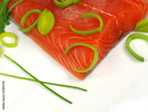 fresh salmon steak