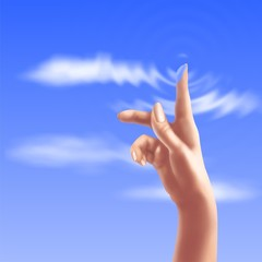 touch the sky with a finger