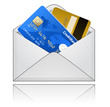 Credit card in an envelope. Vector illustration