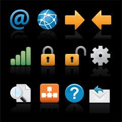 icon set web on black