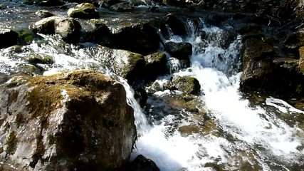 Kleiner Wasserfall im Wald - Video - Small Waterfall in Forest