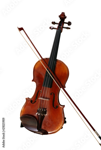 Violin and Bow - clipping path