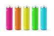 Multicolor AA size batteries