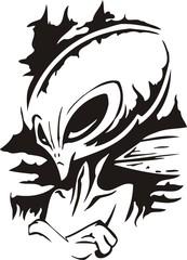 Haughty alien.