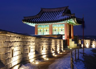 Hwaseong Fortress at Night