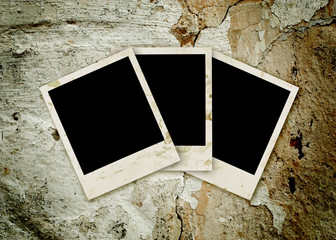Three empty grunge frame
