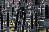 Isolatoren in einem Umspannwerk - 21834723