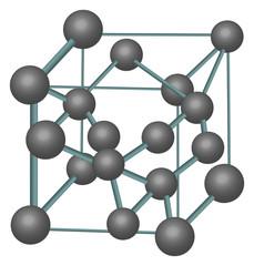diamond crystal structure illustration
