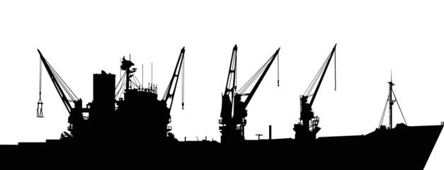 big industrial ship