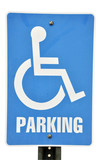 Handicapped Parking Sign Isolated poster