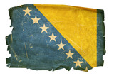 Bosnia and Herzegovina Flag old, isolated on white background. poster