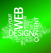 Web Design over Green Background