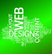 Web Design over Green Background