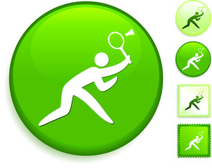 Badminton Icon on Internet Button
