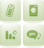 Olivine Square 2D Icons Set poster