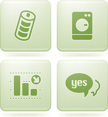Olivine Square 2D Icons Set