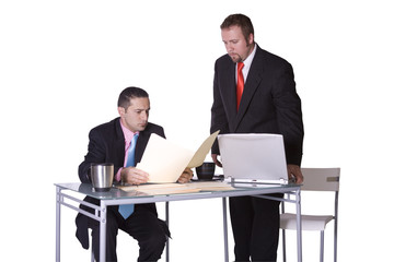 Two Businessmen Working Together