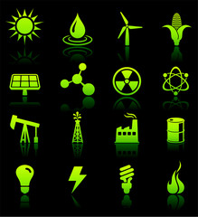 Environmental Nature Icons Collection