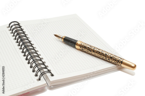 Golden Pen and notebook