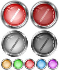 Spirit level. Vector internet buttons.