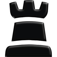 Schach Figur Turm schwarz