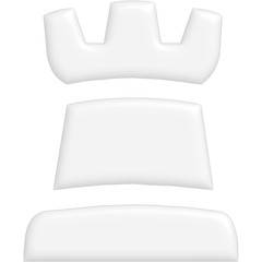 Schach Figur Turm weiss