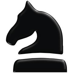 Schach Figur Pferd schwarz