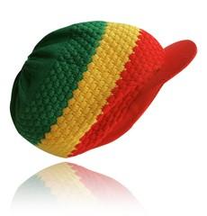 Rasta Peaked Hat