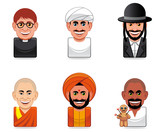 Cartoon people icons (religion) poster