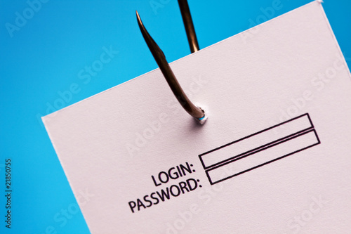 poster of password and login on hook