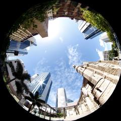 Different  skyscrapers of Brisbane
